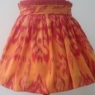 orange skirted ikat