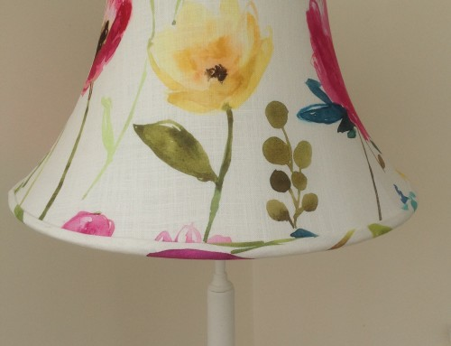 Large bowed empire lampshade