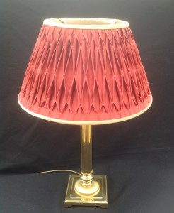 orange silk smocked lampshade