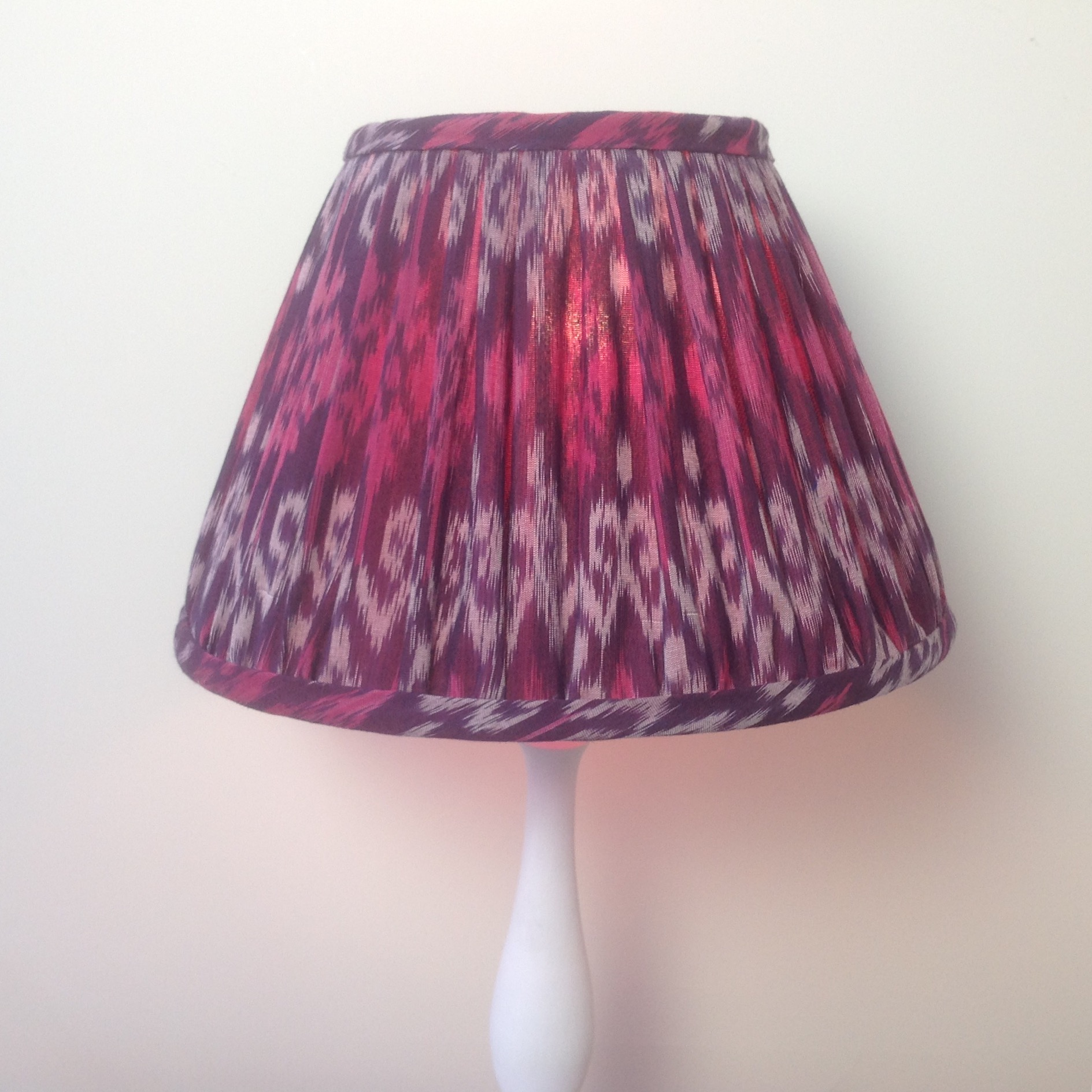 Ikat Lampshade Red