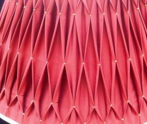 orange lampshade close up