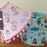 Childrens' lampshades pirates and fairies